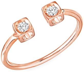 Dinh Van Le Cube 18K Rose Gold & Diamond Open Ring