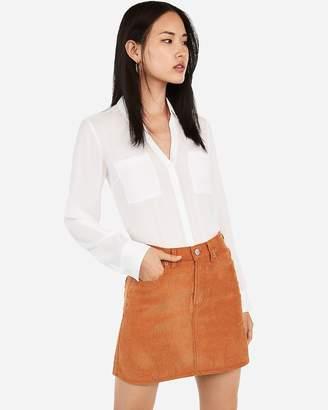 Express High Waisted Corduroy Mini Skirt