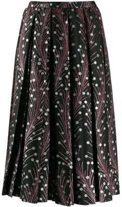 Marco De Vincenzo Embroidered Flared Skirt