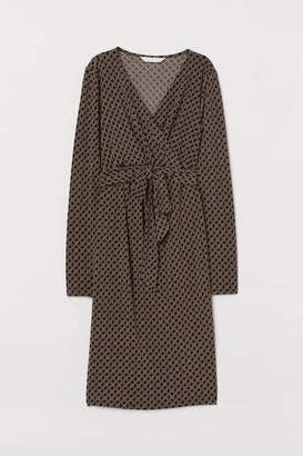 H&M MAMA Knee-length Dress - Black