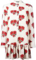 Alexander McQueen poppy print shirt dress - women - Silk - 40