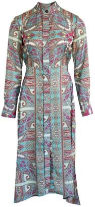 Anna Etter Long Sleeve Paisley Print Dress Iona