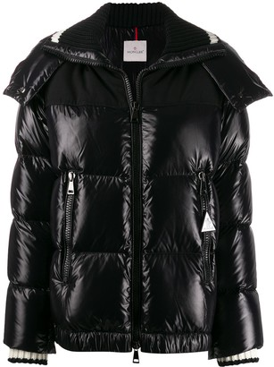 Exact Product: Kendall Jenner Black Oversized Puffer Long Jacket Street Style Autumn Winter 2020, Brand: Moncler, Available on: shopstyle.com, Price: $1970