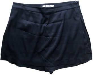 Alexander Wang Blue Silk Shorts for Women