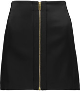 Rag & Bone Nettie satin and wool-blend mini skirt
