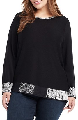 NIC+ZOE, Plus Size Stand Out Sweater