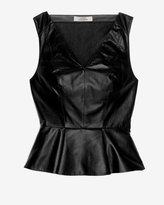 Robert Rodriguez Leather Combo Flare Top