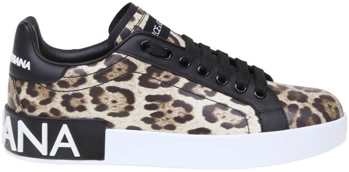 Dolce \u0026 Gabbana Leopard Print Sneakers