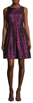 Cynthia Steffe Sophie Brocade Pleated Flare Dress