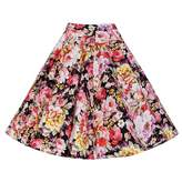 Alaroo Girls Purple Rose Print Pleated Midi Skirt