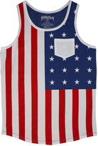 JCPenney NOVELTY SEASON U.S. Flag Graphic Tank Top