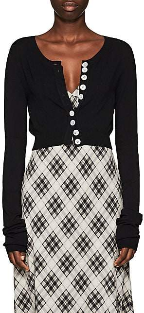 Marc Jacobs Women's Jersey Crop Cardigan - Black