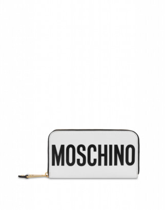 Moschino Wallet With Maxi Logo Woman White Size U It - (one Size Us)