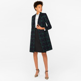 Paul Smith Women's Wool-Blend Black Watch Check Epsom Coat With Flocked Spots