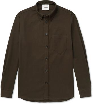 Nanushka Dome Button-Down Collar Stretch-Cotton Twill Shirt
