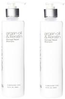 Caroline Chu Twin Pack Argan Oil & Keratin Damage Repair Shampoo (16.9 OZ)