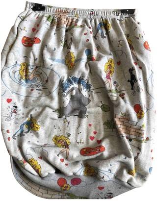 Bernhard Willhelm Grey Cotton Skirt for Women