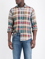 Polo Ralph Lauren Check-print regular-fit linen shirt