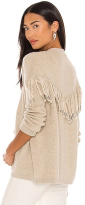 One Grey Day Dundas Fringe Cardigan