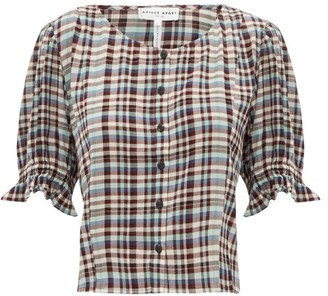 Apiece Apart Star-board Checked Rayon Top - Multi