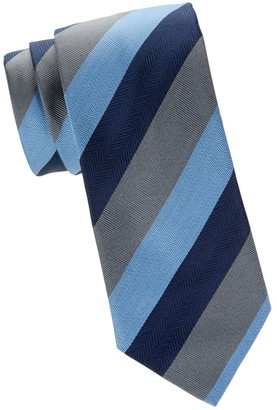 Brioni Colorblock Striped Tie
