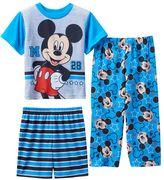 "Disney Disney's Mickey Mouse ""M 28"" Toddler Boy 3-pc. Pajama Set"