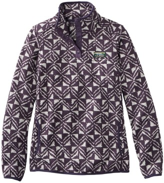 L.L. Bean Women's L.L.Bean Sweater Fleece Pullover, Print