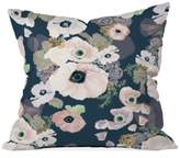 """Deny Designs Khristian A Howell Une Femme in Blue 16"""" Square Decorative Pillow"""