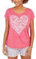 Style&Co. Style & Co Heart Graphic Top, Created For Macy's