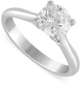 Aurora platinum 1.25 carat diamond solitaire ring