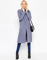 Asos Wool Blend Coat with Zip Front