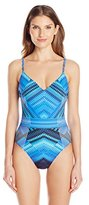 Gottex Women's Venice V-Neck One Piece Swimsuit