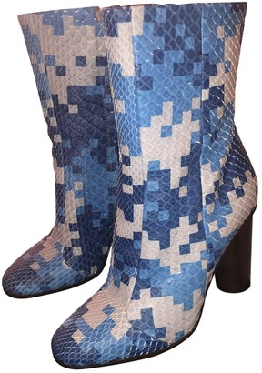 Anya Hindmarch Blue Water snake Ankle boots