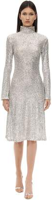 L'Autre Chose Sequined Midi Dress
