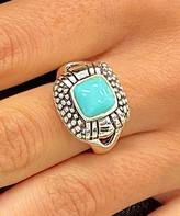 Sevil 925 Women's Rings - Howlite & Sterling Silver Square Ring
