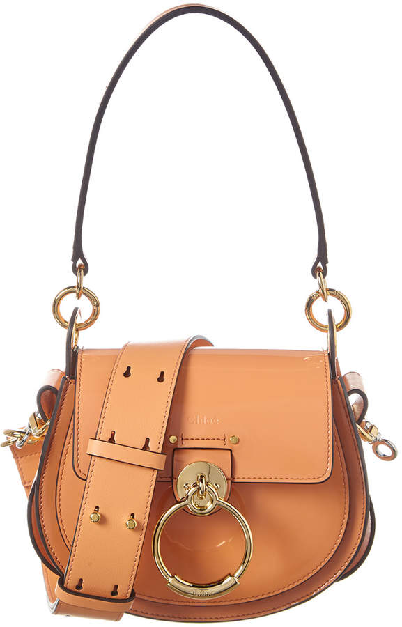 Chloé Tess Small Patent Shoulder Bag