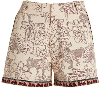 Le Sirenuse Positano Animal Print Shorts
