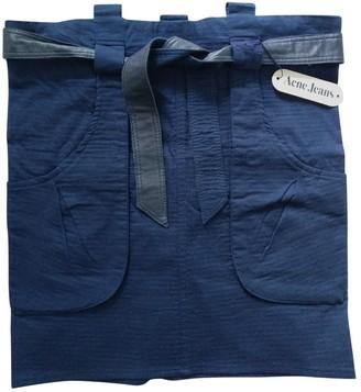 Acne Studios Navy Cotton Skirt for Women