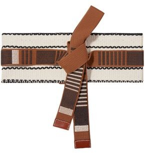 Etro Leather-trimmed Embroidered Cotton-canvas Waist Belt