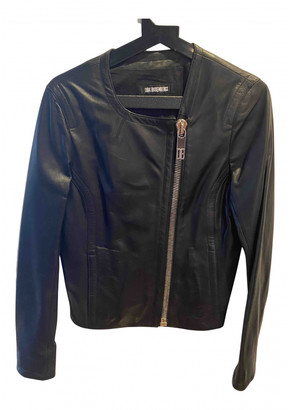 Dirk Bikkembergs Black Leather Jackets