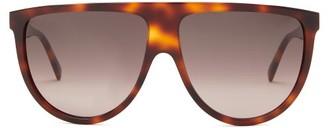 Celine Flat-top Tortoiseshell-acetate Sunglasses - Tortoiseshell