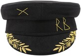 Thumbnail for your product : Ruslan Baginskiy Embroidered Baker Boy Hat