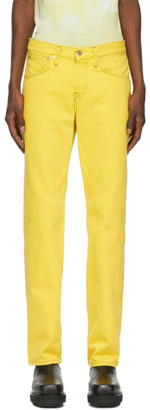 Helmut Lang Yellow Masc Lo Easy Jeans