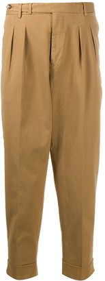 Pt01 Pleat-Front Cropped Trousers