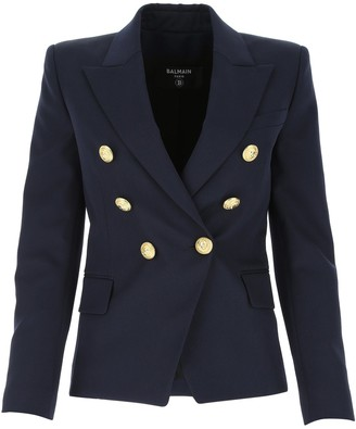 Balmain Double Breasted Fitted Blazer