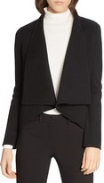 Halston Wool Blend Open Cardigan
