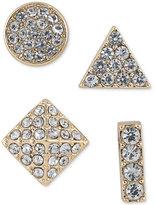 ABS by Allen Schwartz Gold-Tone 4-Pc. Set Mixed Pavé Stud Earrings