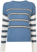 Derek Lam 10 Crosby Long Sleeve Striped Crewneck Sweater