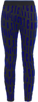 Just Cavalli Flocked Scuba Leggings