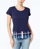 Maison Jules Layered-Look T-Shirt, Created for Macy's